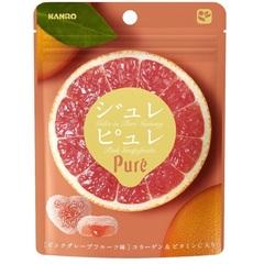 有樂町進口食品 甘樂Pure葡萄柚軟糖63g 4901351059333