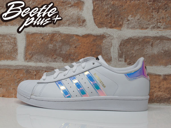 女生 BEETLE ADIDAS SUPERSTAR GRADE SCHOOL 愛迪達 金標 雷射 反光 AQ6278