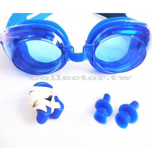 【C16080501】防水防霧游泳眼鏡 耳塞+鼻夾+泳鏡-三件組 高密度防水效果蛙鏡