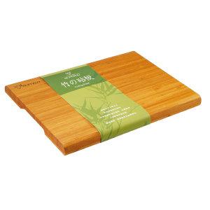 【牛頭牌】毛竹腳墊方砧板 / 切菜板 35.5cm (中)   附腳墊好切不滑動無竹屑  
