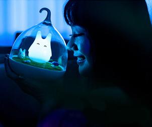 童話景觀超萌小精靈LED床燈/小夜燈-愜意藍