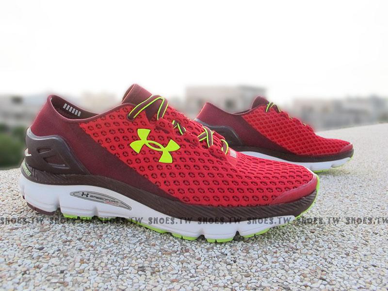 出清6折 [28CM] Shoestw【1255821-600】UNDER ARMOUR UA 慢跑鞋 Speedform Gemini 紅酒紅