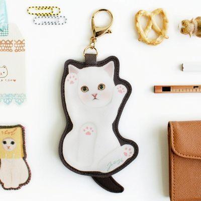 鑰匙圈零錢包 JETOY,Choo choo 甜蜜貓娃娃鑰匙圈零錢包 Cream~快樂生活網