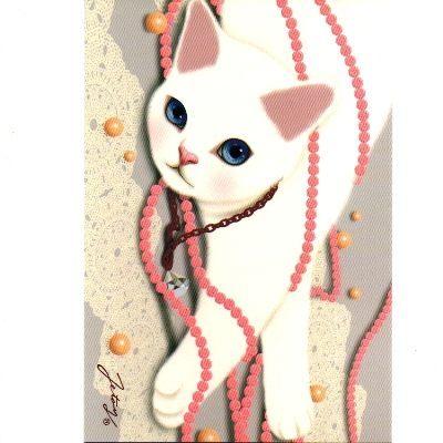 JETOY,Choo Choo 甜蜜貓第二代明信片 Pearl shiny~快樂生活網