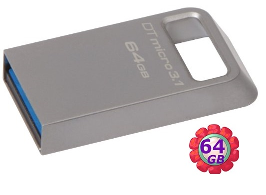 Kingston 64GB 64G 金士頓【DTMC3】DTMC3/64GB DataTraveler Micro USB 3.1 原廠保固 隨身碟