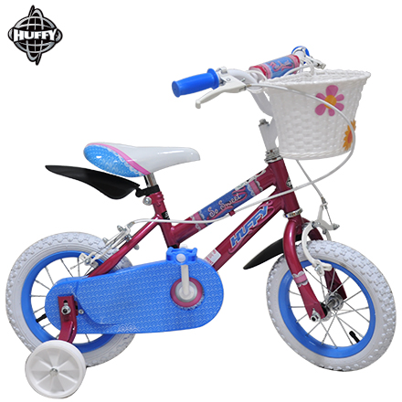 HUFFY美國百年品牌 12吋女童車.兒童自行車.腳踏車.童車.兒童腳踏車.輔助輪童車(贈送菜籃和擋泥板)