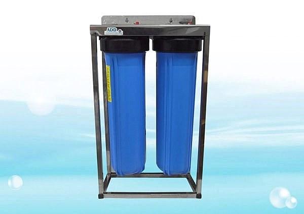 ADD不鏽鋼水塔過濾器《20英吋腳架、大胖2道式、附濾心》1英吋規格