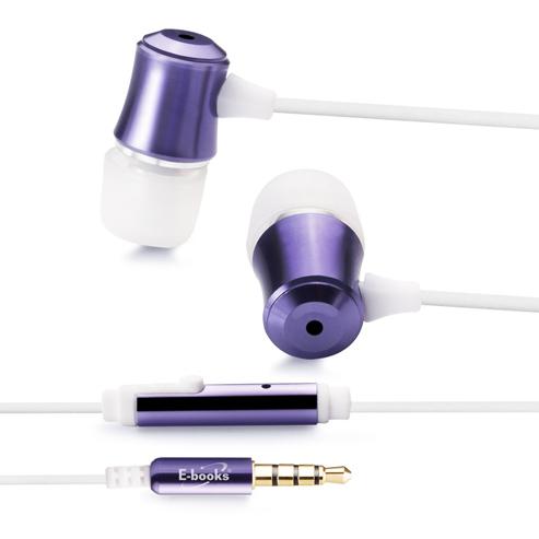 【迪特軍3C】E-books S22 智慧手機線控鋁製氣密耳機-紫