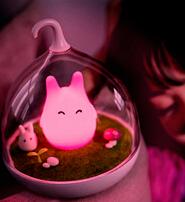 童話景觀超萌小精靈LED床燈/小夜燈-愛心紅
