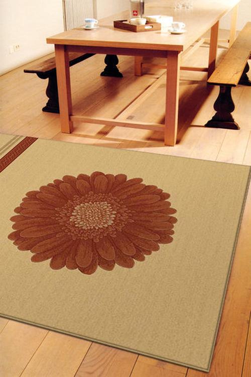 四季優柔典雅羊毛地毯-紅菊-170x230cm