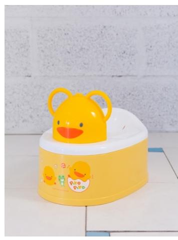 Piyopiyo 黃色小鴨 兩段式功能造型幼兒便器 共二款顏色