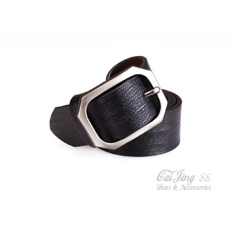 真皮皮帶╴鱷魚紋真皮窄版皮帶 黑 采靚鞋包精品 MIT台灣製 CK01
