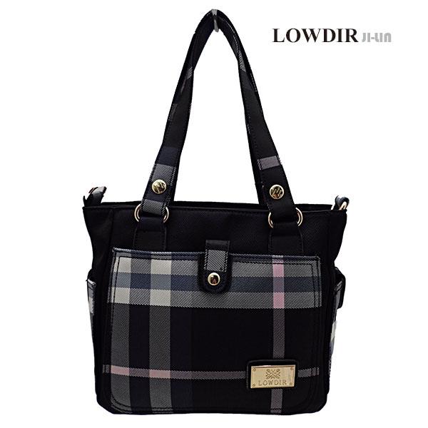 5-J1007【LOWDIR 露蒂兒】極簡黑白格子紋女包 (二用)