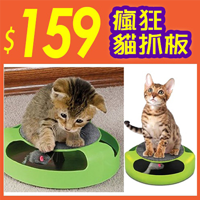 Catch the mouse 瘋狂貓抓板 寵物玩具 貓玩具 貓遊樂盤 【省錢博士】 159元