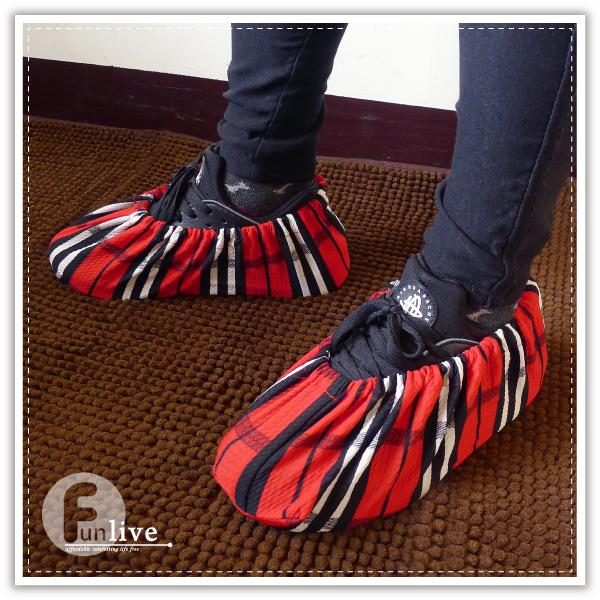 【aife life】印花防塵腳套/防髒鞋套/無塵鞋套/室內拖鞋/可重複使用/室內免脫鞋/鬆緊帶/地板防髒刮傷