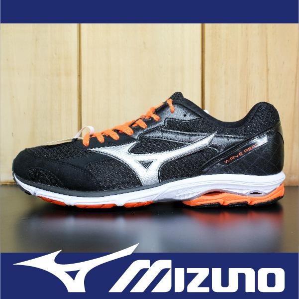 萬特戶外運動-MIZUNO美津濃 J1GC153609 WAVE AERO 14 透氣 寬楦 慢跑鞋 路跑 黑+橘 男鞋