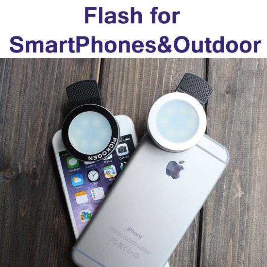 【LED 夾式補光燈】智慧手機拍照補光燈/夜拍/逆光/室內補光/照明燈/內建電池 GKD-LW12