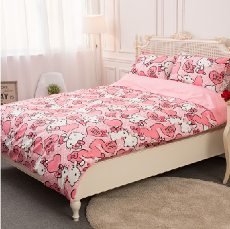 【名流寢飾家居館】Hello Kitty.粉紅佳人.標準雙人床罩組.全程臺灣製造