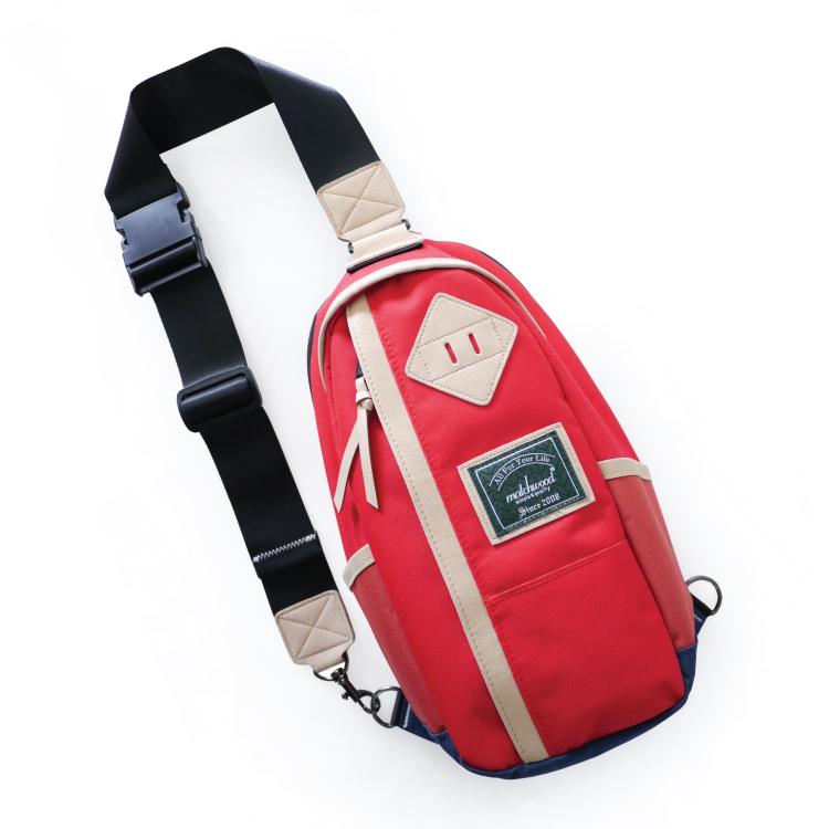 REMATCH - Matchwood Hunter 撞色單肩後背包 紅色款 斜背包 側背包 隨身包 胸前包 基本防水 / 運動 / 輕便 / 美式休閒 / 單車Fixed gear / Dickie..