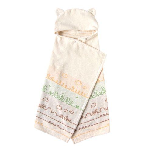 日本【Hoppetta】有機棉童趣森林熊耳朵浴巾-726015