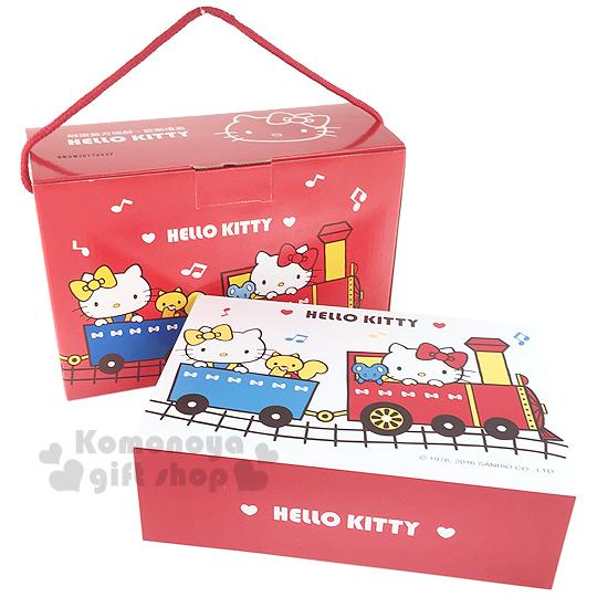 〔小禮堂〕Hello Kitty 鹹蛋黃方塊酥 歡樂禮盒《紅盒.火車.朋友》