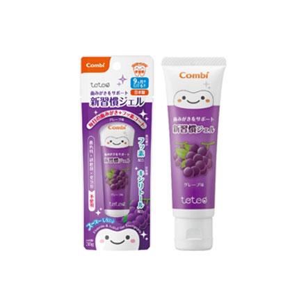 【悅兒園婦幼生活館】Combi康貝 teteo幼童含氟牙膏30g (葡萄)