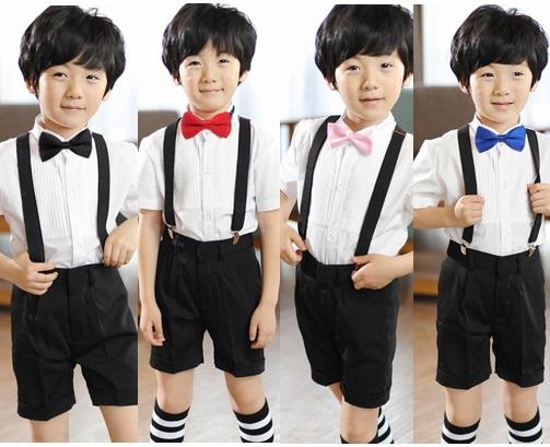 天使嫁衣【童T55】4色領結背帶夏季男花童禮服˙預購訂製款