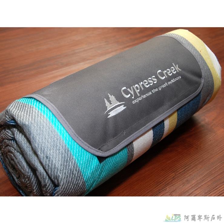 [阿爾卑斯戶外/露營] 土城 Cypress Creek 野餐墊/營帳內墊/沙灘地墊 鋁箔底防潮 彩虹紋 CC-M201