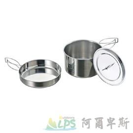 [阿爾卑斯戶外/露營] 土城 日本鹿牌 CAPTAIN STAG 燕三條不鏽鋼麵鍋2L 廚具 鍋具 平底鍋 M-5511