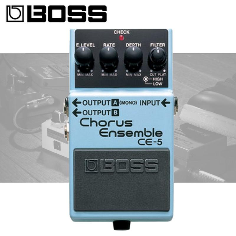 【非凡樂器】全新 BOSS CE-5 Chorus Ensemble 和聲效果器/贈導線