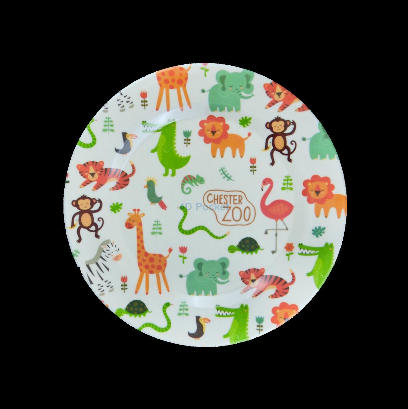 4D Pocket 可愛動物 天然竹纖維餐盤 (20cm)