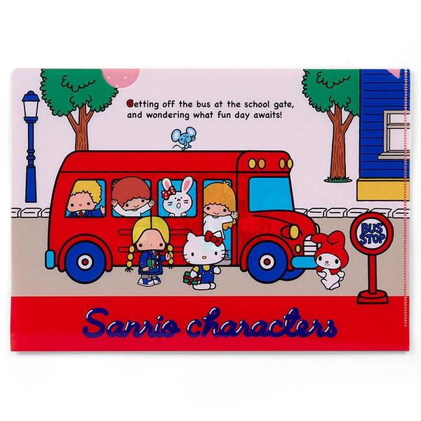 【真愛日本】16082000066A4文件夾-MX70s巴士  三麗鷗 Hello Kitty 凱蒂貓  收納 辦公用品 資料夾