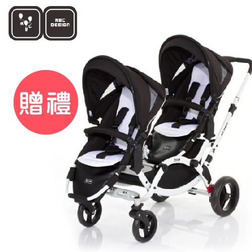 【好禮五選二】德國【ABC Design】ZOOM 嬰兒雙人推車(個性黑白)