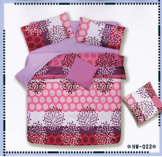 ?臺灣製?舒柔棉磨毛超細纖維床包組《HW-0022》5X6.2尺雙人床包組+兩用被 四件組◤彩虹森林◥