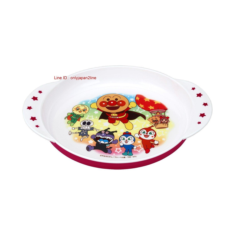 【真愛日本】17010500005塑膠雙耳圓盤紅底-ANP 電視卡通 麵包超人 細菌人 餐碗 兒童餐具