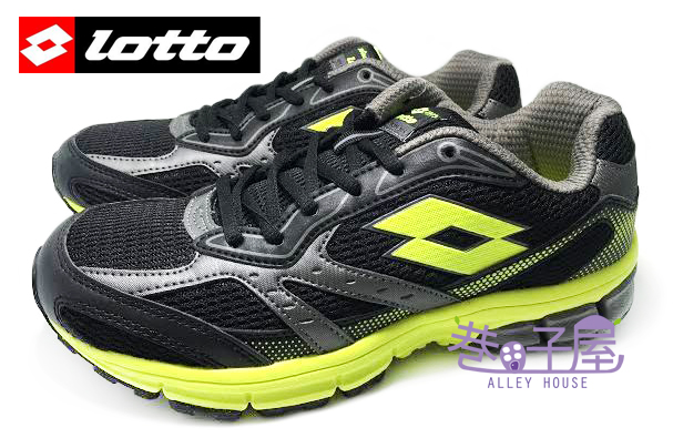 【巷子屋】義大利第一品牌-LOTTO樂得 男款ZENITH雙密度避震透氣超輕量運動慢跑鞋 [2651] 黑 超值價$590