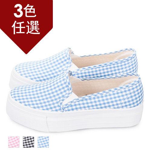 FUFA MIT 方格紋厚底懶人鞋(T65) - 共三色
