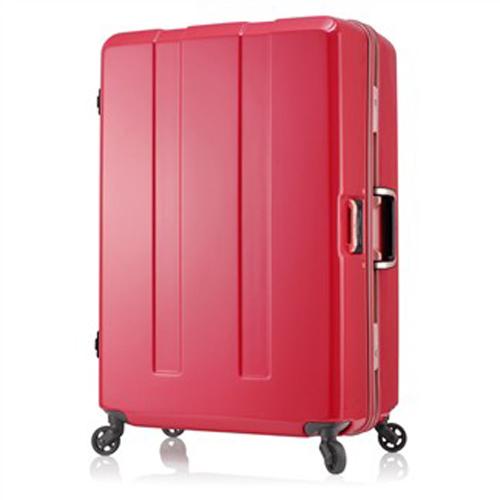 日本 LEGEND WALKER 6703-64-26吋 電子秤鋁框輕量行李箱 橘紅