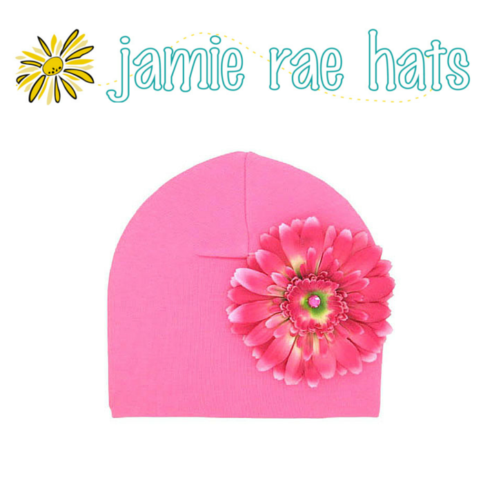 ★啦啦看世界★ Jamie Rae Hats 糖果粉紅雛菊棉帽 Candy Pink Cotton Hat with Candy Pink Daisy