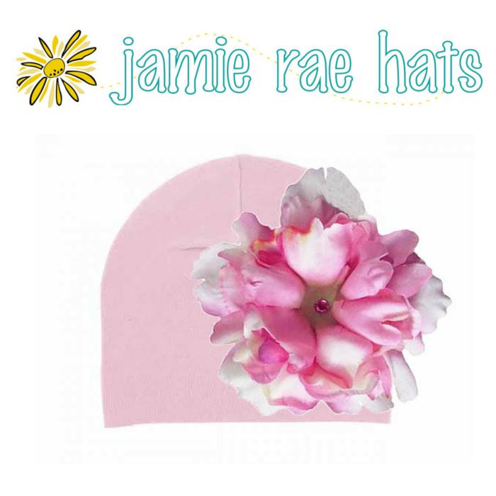 ★啦啦看世界★ Jamie Rae Hats 糖果漸層牡丹棉帽/ 嬰兒帽 出生禮 彌月禮 小孩帽 兒童帽