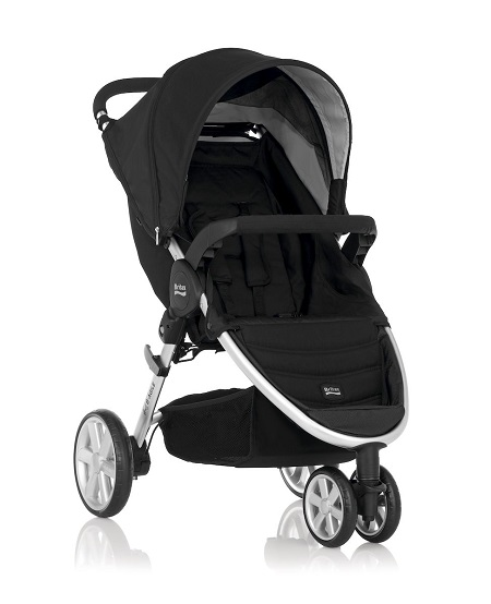 Britax - B-Agile單手收豪華三輪手推車 (黑) 加購Britax - Baby-Safe提籃享特價優惠!