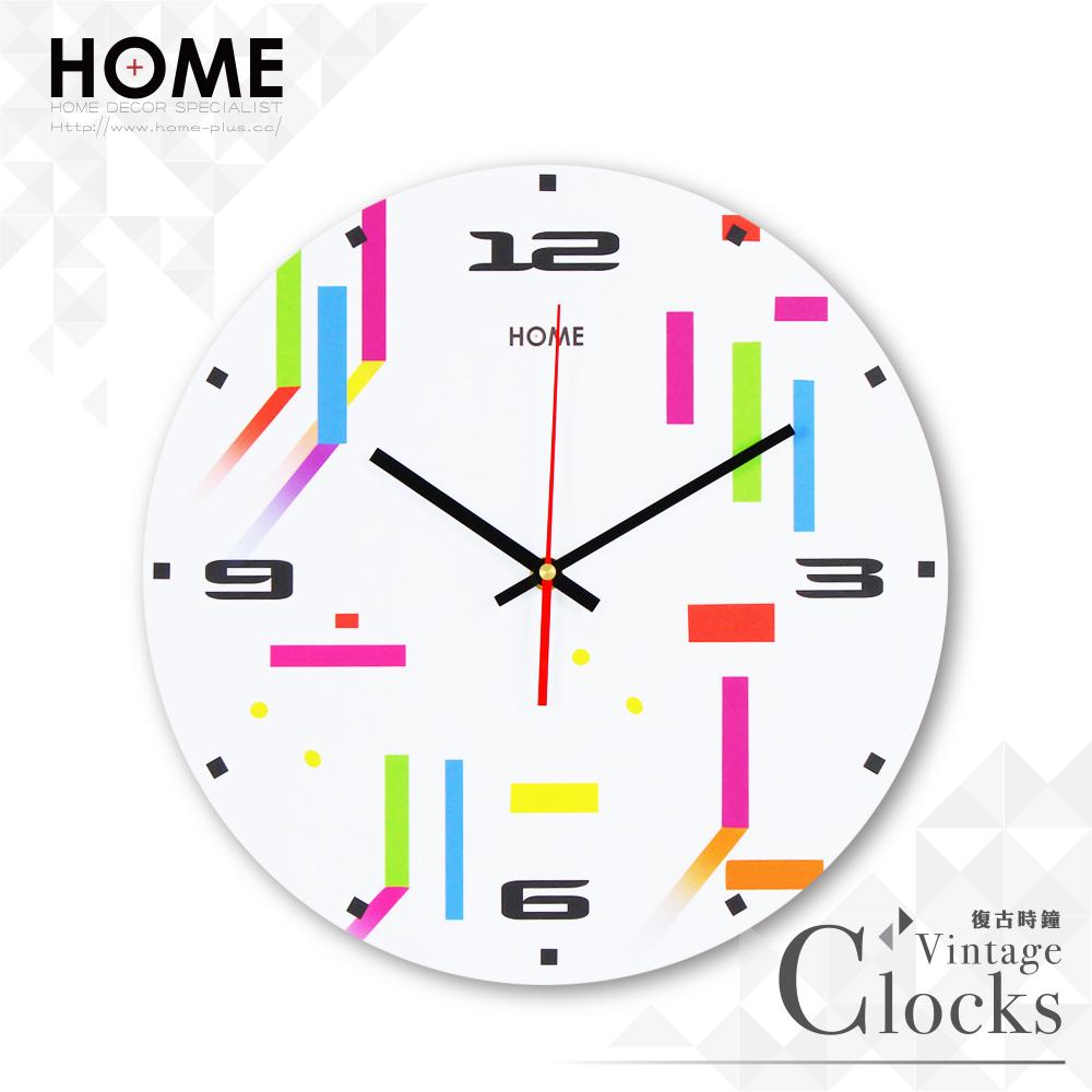 HOME+ 原創設計時鐘 A款 CE認證靜音掃描機芯 無滴答聲 掛鐘 壁鐘 時尚風格 裝潢裝飾 無框畫擺飾 鄉村風無印風