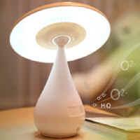 【 樂客生活 】蘑菇空氣淨化器台燈創意禮品觸摸可調節亮度充電式LED小檯燈護眼學習臥室床頭空氣淨化器