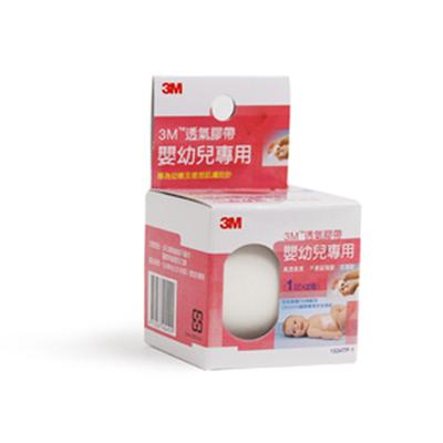 【3M】透氣膠帶 嬰幼兒專用,寬1吋x2捲