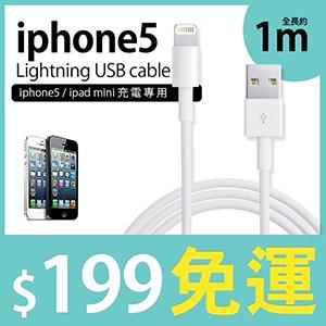 iPhone5 Lightning 傳輸線/充電線-高品質第四代-副廠 非原廠線 (郵寄免運)