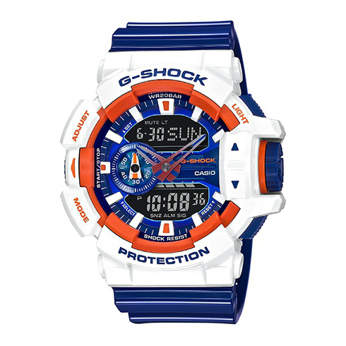 CASIO G-SHOCK GA-400CS-7A時尚多彩流行腕錶/51mm