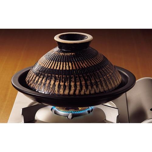 《長谷園伊賀燒》蒸煮式 - 摩洛哥陶土塔金鍋(小)22cm