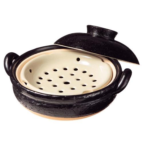 《長谷園伊賀燒》冷熱料理兩用 - 遠紅外線健康蒸鍋(2~3人份)