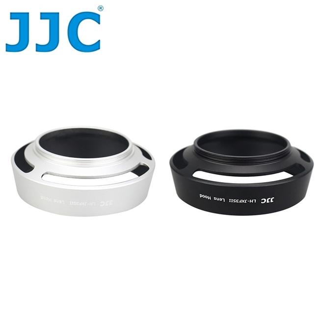 又敗家@JJC富士副廠Fujifilm遮光罩(SILVER銀色)LH-XF35II遮光罩相容Fujifilm原廠XF35II遮光罩,適XF 35mm f/2 R WR太陽罩F2.0遮陽罩1:2.0螺紋..