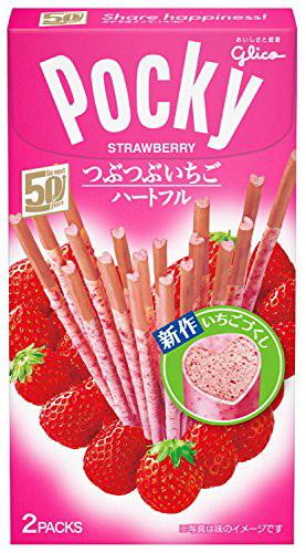 Glico固力果心型POCKY草莓棒 57.6g